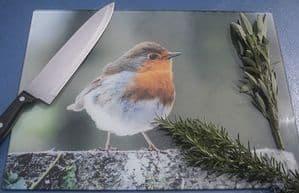 Robin Glass Chopping Board Large Size Toughened Glass