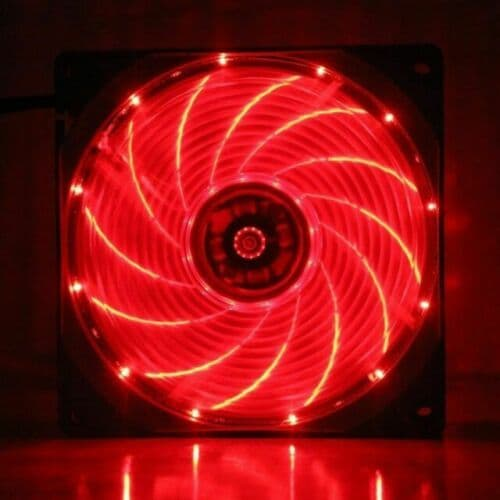1st Player Case Fan 12cm 15x Red LED 3+4 Pin Connector