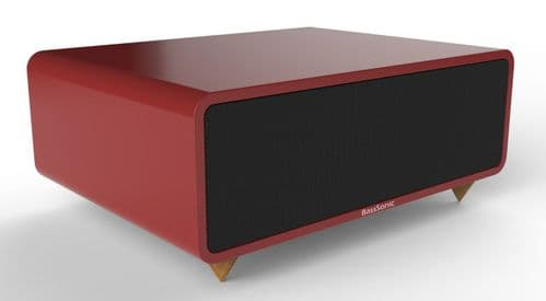 Bass Sonic Red Speakers Bluetooth v3.0