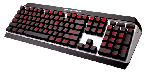 Cougar Attack X3 Red Backlit Cherry MX Brown Switch Gaming Keyboard