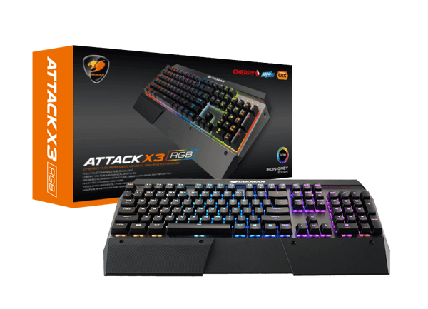Cougar Attack X3 RGB Cherry MX S/Silver Switch Gaming Keyboard