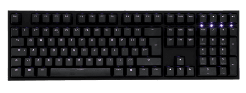 Ducky One2 White Backlit Brown Cherry MX Switch