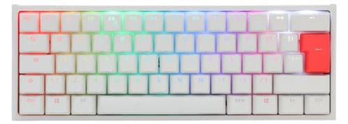 Ducky White One2 Mini RGB Backlit Brown Cherry MX