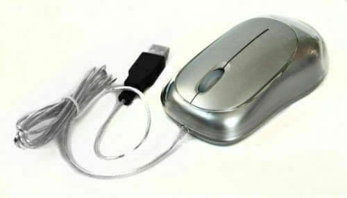 Eye-T USB Sub-Laser Mouse Silver 1000cpi Blue LED