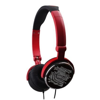 G-Cube G-POP II iHP-120R Headphone Red Foldable