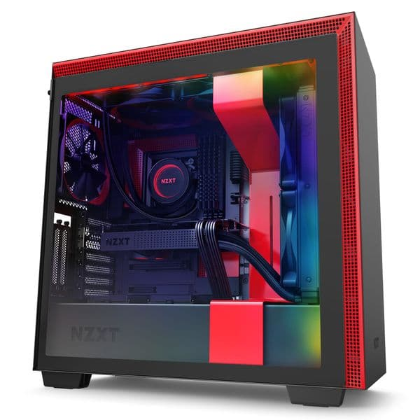 NZXT H710i Matte Black / Red Mid Tower Case