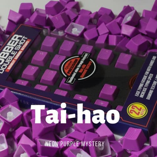 Tai-Hao TPR Rubber Backlit Double Shot 22 Keys Neon Purple