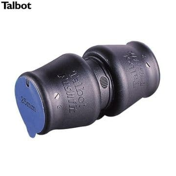 2 x Talbot push fit 32mm straight couplers for blue MDPE pipe. E2826 Connectors