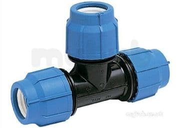 40mm equal tee for blue MDPE pipe. GF George Fischer Plasson 40 mm