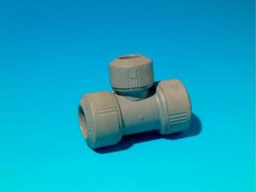 5 x Hepworth Hep2O 15-15-10mm branch and end reduced tees. Push fit 15mm reducer