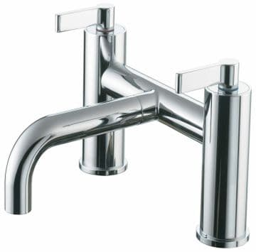 Ideal Standard Silver E0072AA two handle bath mixer tap in chrome. GRADED