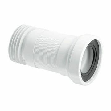McAlpine straight flexible WC pan connector 140 - 290mm extension WC-F23R