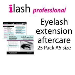 Aftercare leaflet eyelash extensions 25 pk