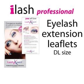 Lashxpert retail leaflet packs