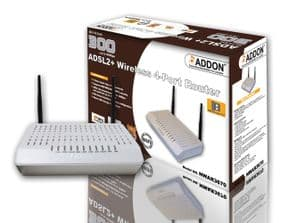 Addon NWAR3670 11N 300Mbps ADSL2+ Wireless 4-Port Router with NAS (Storage) Function