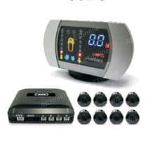 8 Sensor Front and Rear Colour LED Display Audio Buzzer Rear Parking Sensor Kit SB362-8