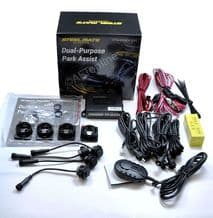 STEELMATE Matt Black Front Or Rear Parking Sensors OE Flush Fit PTS400EX Dual Purpose