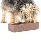Ancol Ceramic Twin Woof Bowl - 2 colours