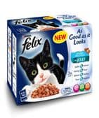 Felix AGAIL Doubly Delicious Fish - (4 packs of 12 pouches)