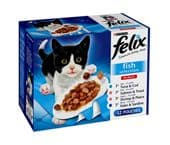 Felix Pouch Fish Selection (4 packs of 12 pouches)