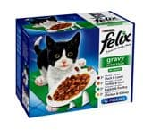 Felix Pouch Gravy Selection (4 packs of 12 pouches)