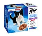 Felix Pouch Kitten Mixed Selection (4 packs of 12 pouches)