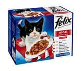 Felix Pouch Meat Selection (4 packs of 12 pouches)