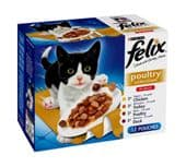 Felix Pouch Poultry Selection (4 packs of 12 pouches)