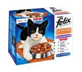 Felix Pouch Senior Mixed Selection (4 packs of 12 pouches)