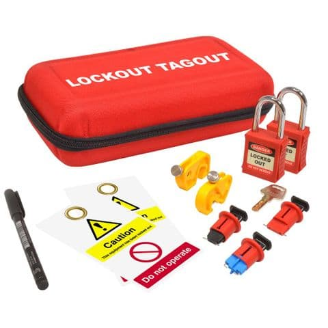 ASEC Electrical 11 Piece Lockout Tagout Kit