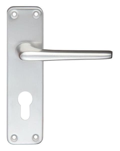 Contract Aluminium Euro Profile Lever On Backplate SAA - ZCA21EPSA