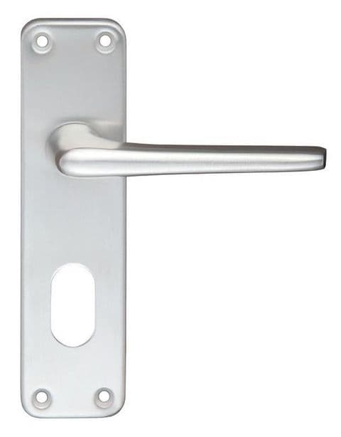 Contract Aluminium Oval Profile Lever On Backplate SAA - ZCA21OPSA