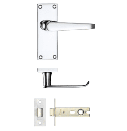 Project Door Latch Pack - Polished Chrome