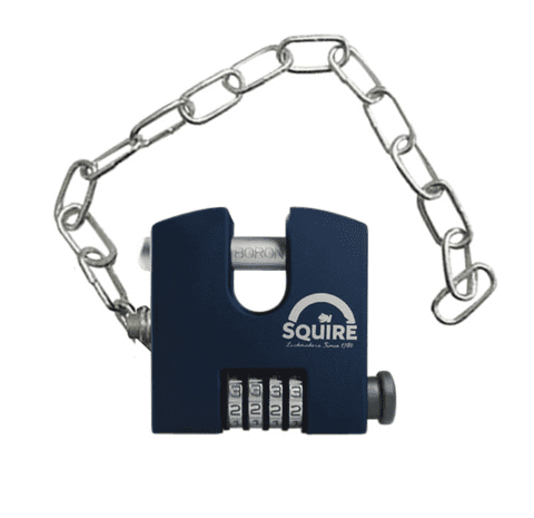 SQUIRE SHCB65 + Chain Sliding Shackle Combination Padlock