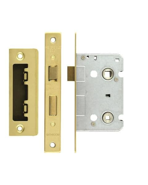 ZBC64PVD Bathroom Lock 2.5'' Polished Brass