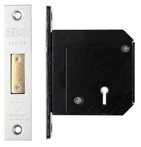 Zoo ZBSCD80SS 114 Deadlock - 80mm Satin Chrome