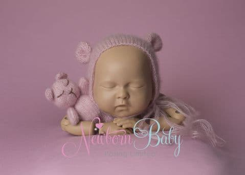 Pale Pink Backdrop & Bear Bundle