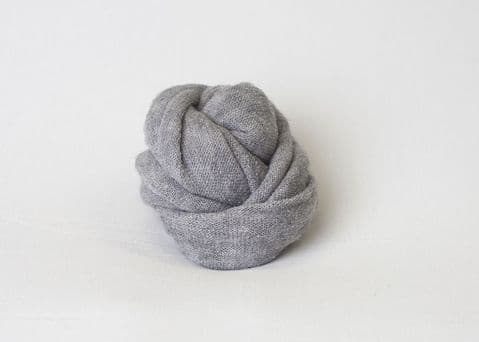Plain Knitted Style Stretch Wrap ~ Mottled Grey