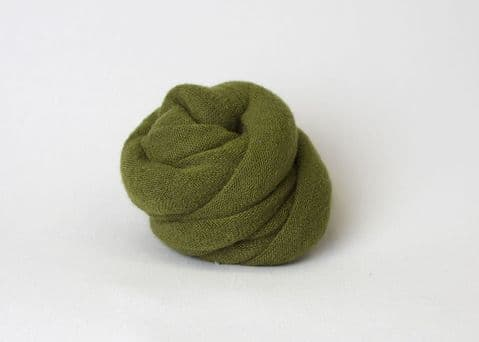 Plain Knitted Style Stretch Wrap ~ Olive Green