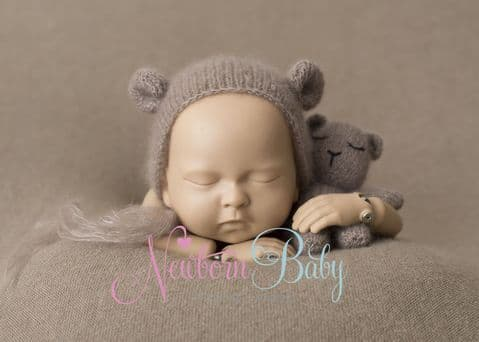 Taupe Backdrop & Bear Bundle