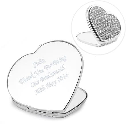 Diamante Heart Compact