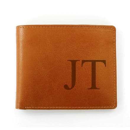 Personalised Brown Big Initials Wallet
