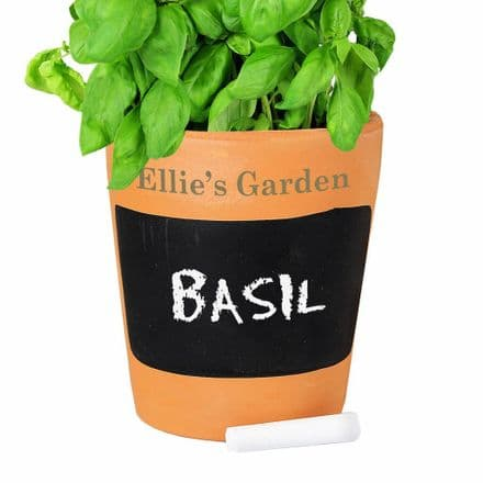 Personalised Chalk Board Terracotta Planter