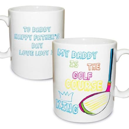 Personalised Golf Course King Mug