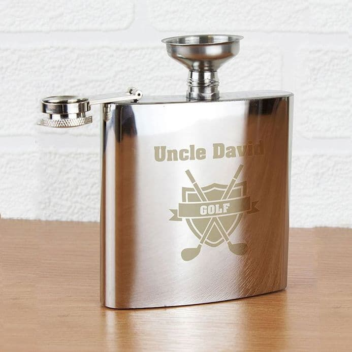 Personalised Hip Flask - Golf