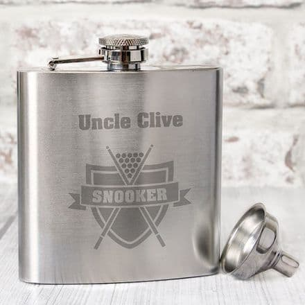 Personalised Hip Flask - Snooker