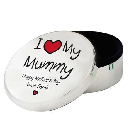 Personalised I Heart My...Round Trinket Box