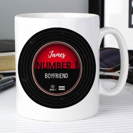 Personalised Mug - Vintage Record