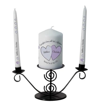 Personalised Perfect Love Candle Gift Set