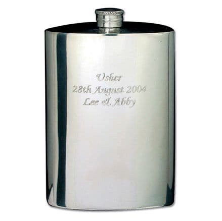 Personalised Pewter 4oz Hip Flask